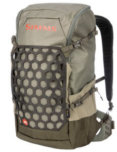 This photo shows the Simms Flyweight Fishing Backpack.