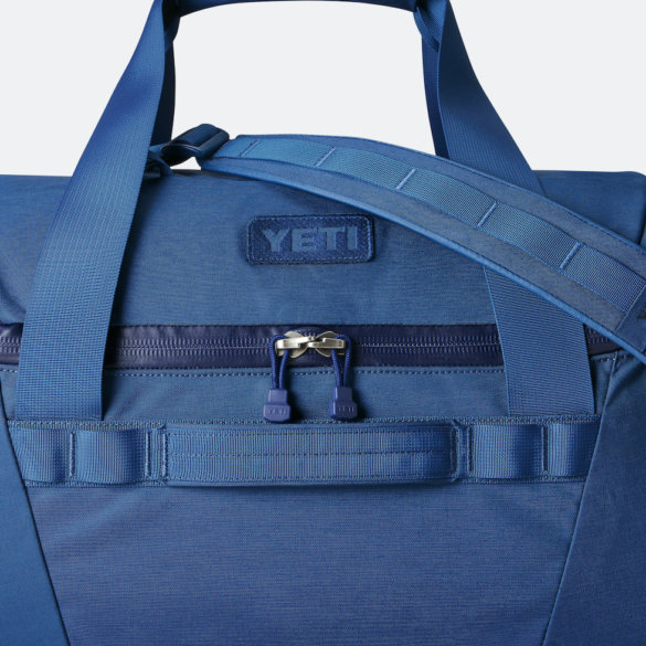 This photo shows a closeup of the new YETI Crossroads 60L Duffel Bag.