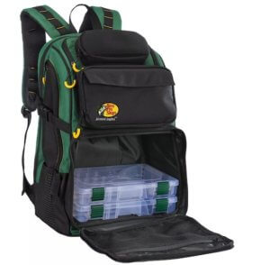 This fishing backpack photo shows the Bass Pro Shops Advantage Anglers II Backpack.
