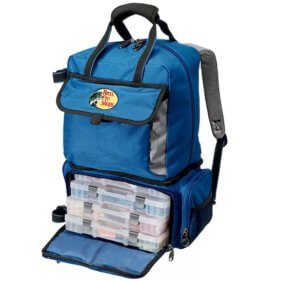 This photo shows the Bass Pro Shops Extreme Qualifier 360 Backpack for fishing.