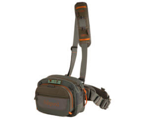 This photo shows the Fishpond Switchback Pro Wading Belt System fly fishing hip pack.