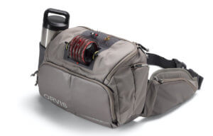 This best fly fishing hip pack photo shows the Orvis Guide Hip Pack.