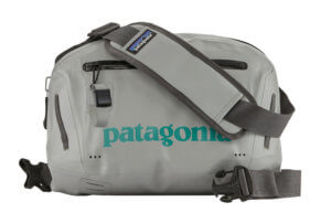 This photo shows the Patagonia Stormsurge Waterproof Hip Pack.