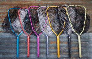 This photo shows the Rising Brookie Net in multiple color options.