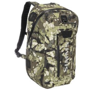 This best fishing backpack photo shows the Simms Dry Creek Z Backpack.