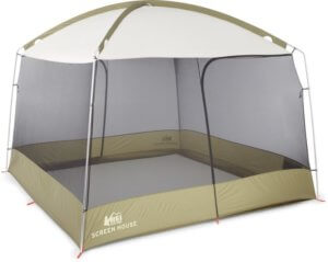 This photo shows a competitive option, the REI Co-op Screen House Shelter.