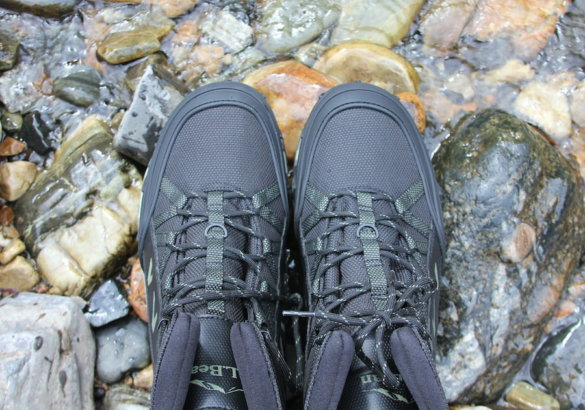 This photo shows the top of the L.L.Bean Apex Wading Boots.
