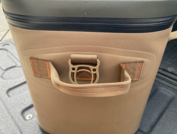 This photo shows the side of the RTIC Soft Pack 30 Cooler.