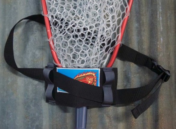 This photo shows the Rising 'The Answer' Net Holster with the Rising Brookie Net.