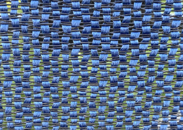 This photo shows a closeup of the YETI Trailhead Camp Chair's FlexFabric seat back material.