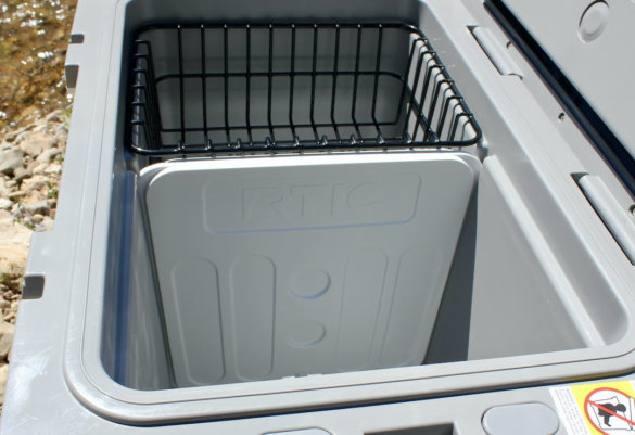 This photo shows the removable basket and divider.
