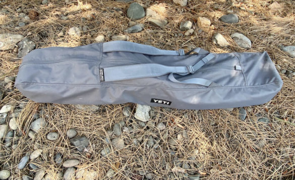 This photo shows the included YETI Trailhead Camp Chair carry bag.