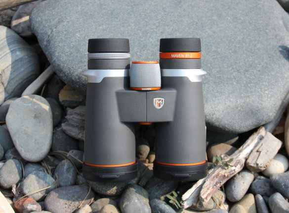This photo shows the new Maven B1.2 Binoculars in the 10x42 option.