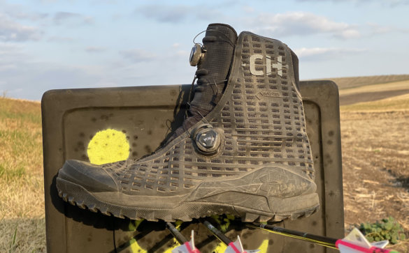 This photo shows a closeup of the men's Under Armour UA CH1 GORE-TEX Hunting Boots.