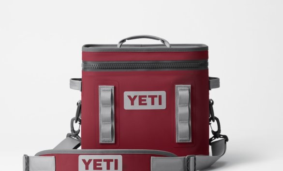 This photo shows the YETI Hopper Flip 12 in the Harvest Red color option.