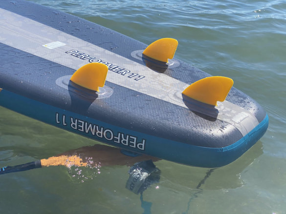 This photo shows the Body Glove Performer 11's built-in fins.