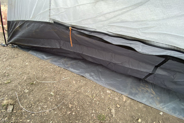 This photo shows the bottom of the tent and footprint.