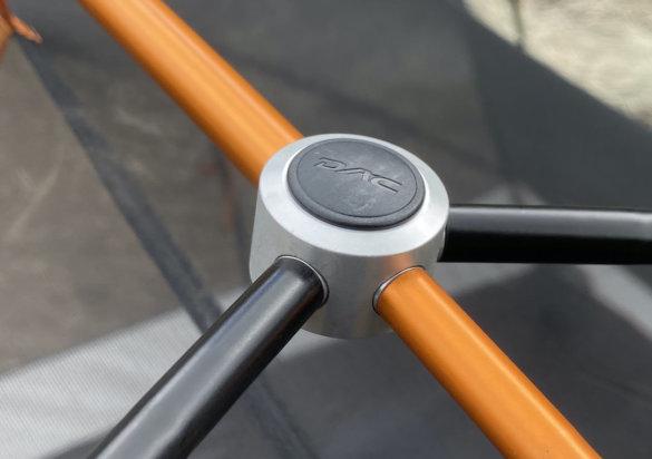 This photo shows the DAC aluminum pole set.