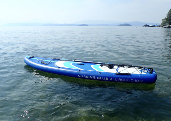 This photo shows the Outdoor Master Chasing Blue Infinite iSUP for paddle board sports and all-around paddling.