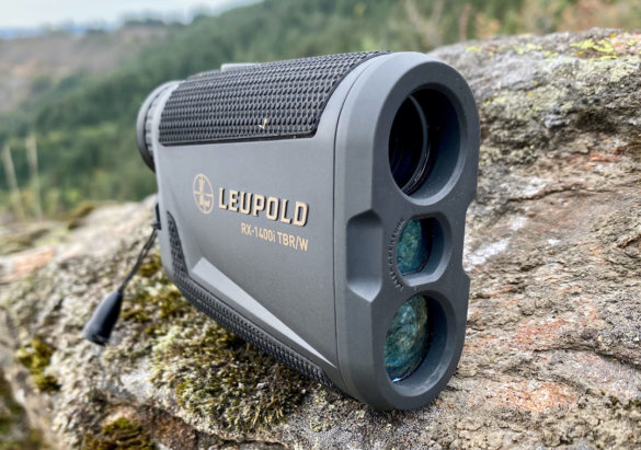 This photo shows the end of the Leupold RX-1400i TBR/W Rangefinder.