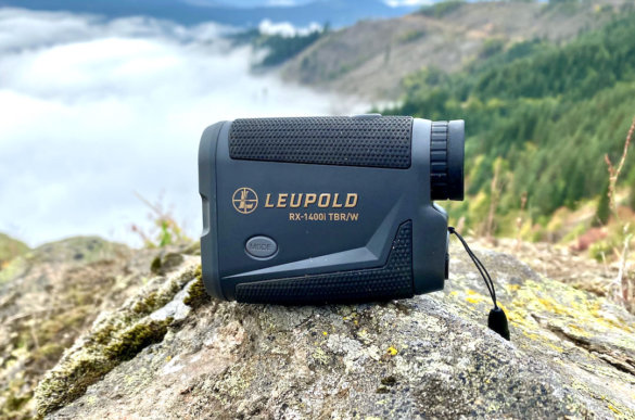 This photo shows the Leupold RX-1400i TBR/W Rangefinder outside during a hunting trip for testing the rangefinder.